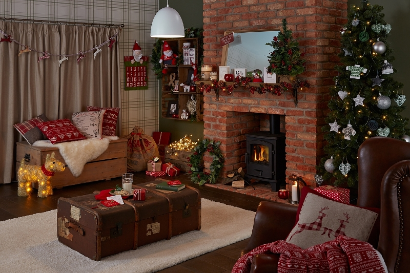 30 Splendid Country Christmas Decorating Ideas Interior