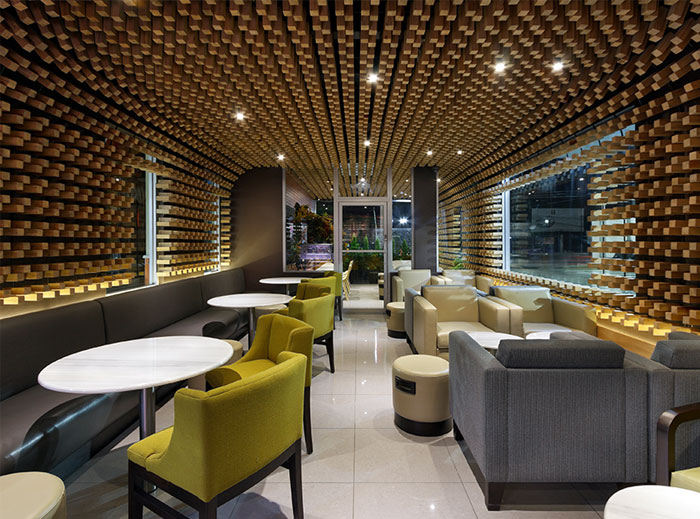 McCafe Interior Decor by Solis Colomer Arquitectos