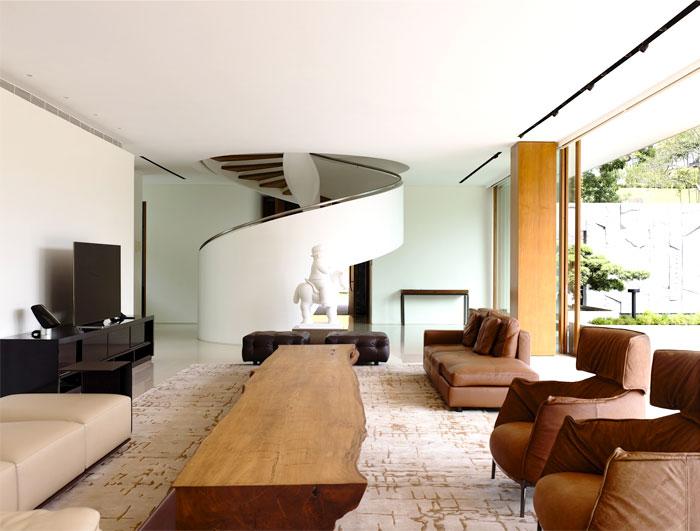 Modern Nature  Inspired Home in Singapore  InteriorZine