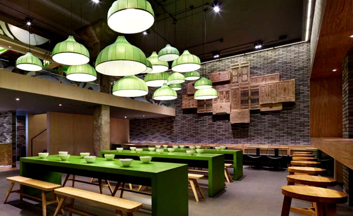 wooden restaurant chairs best office chair for back surgery minimalistic asian with fresh green elements - interiorzine