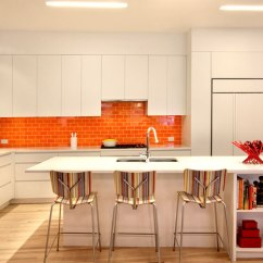 Orange Living Room Walls Modern Sofa Set Designs New York Duplex Apartment By Ghislaine Vinas Interior ...