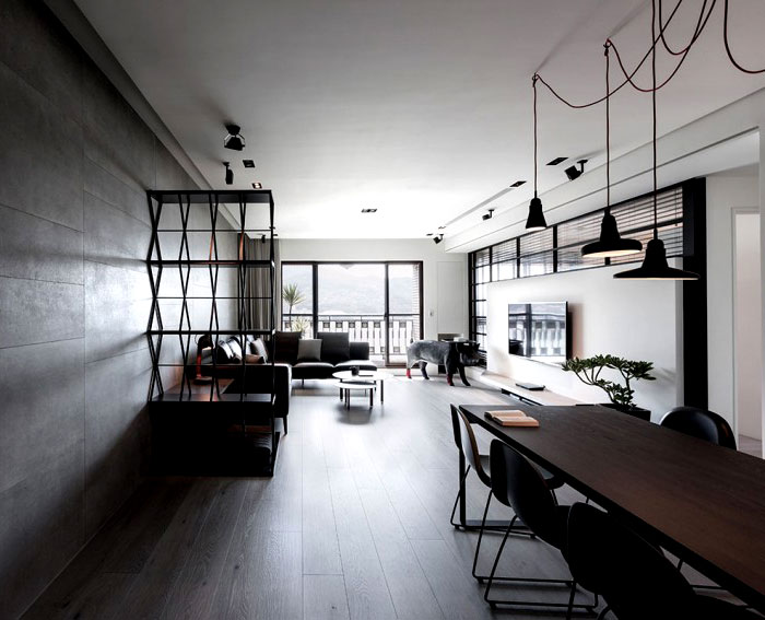 Dark and Moody Apartment Interior  InteriorZine
