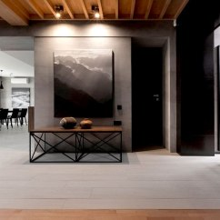 Wooden Living Room Chairs Light Gray Walls Decor Trendy Functional And Contemporary Home - Interiorzine