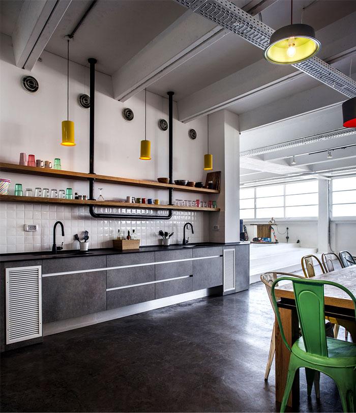 large kitchen rug outdoor designs dynamic urban office by studio roy david - interiorzine