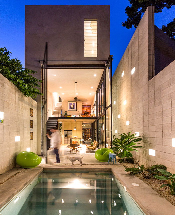 Modern Mexican House : modern, mexican, house, Modern, Mexican, House, Located, Yucatan, InteriorZine