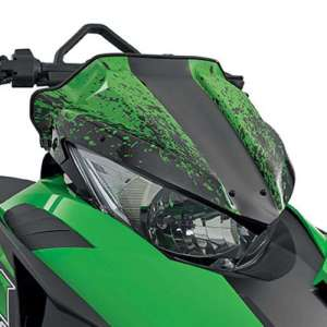 Arctic Cat Splatter Low Windshield – Green – 2012-2016 ZR F XF M