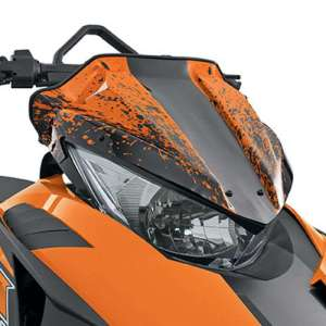 Arctic Cat Splatter Low Windshield – Orange – 2012-2017 ZR F XF M