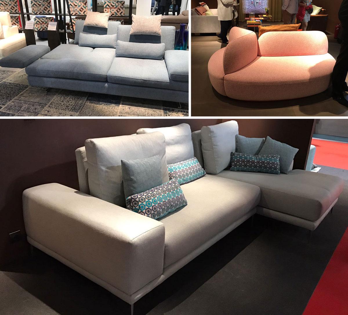 sofa modernos 2017 sofas bay area salón del mueble milán interley interiores