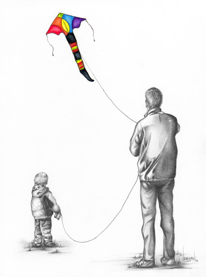 dad and son drawing Keena Wolff Pencil Color