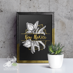 Art Print By Keena Wolff Skulls And Succulents Yucca