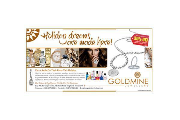 Flyer design for Goldmine Jewellers