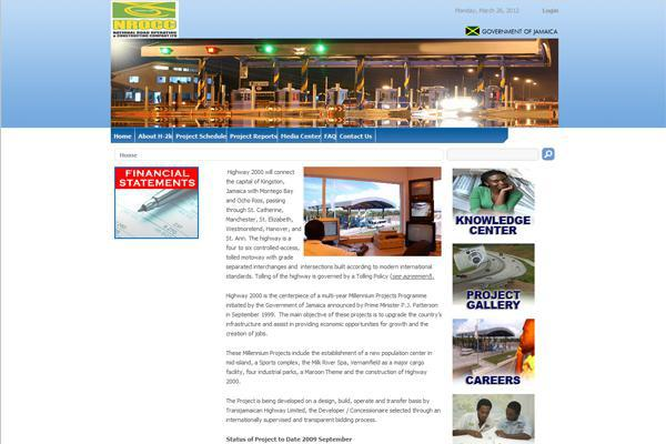 Highway 2000 website developed by Interlinc Communications for NROCC