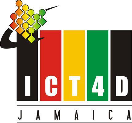 Creative logo for ICT4D Jamaica