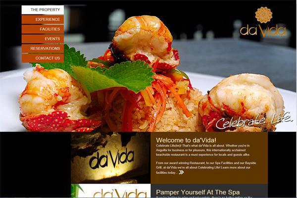 Interlinc designed and developed website, branding and marketing collateral for da'Vida Anguilla