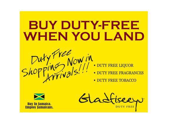 Rack cards and flyers for Gladfiseeyu Duty-Free Jamaica