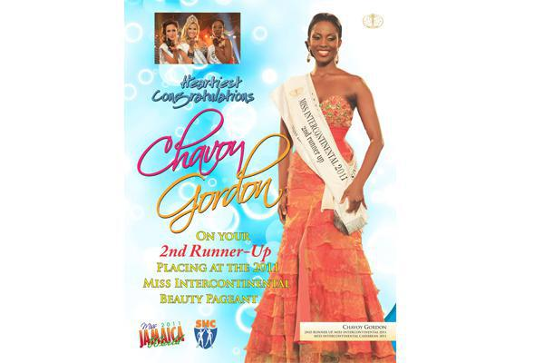 Full Page Print Advertising for Miss Jamaica World