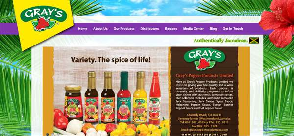 Grays Pepper Products - Another Website By Interlinc Communications