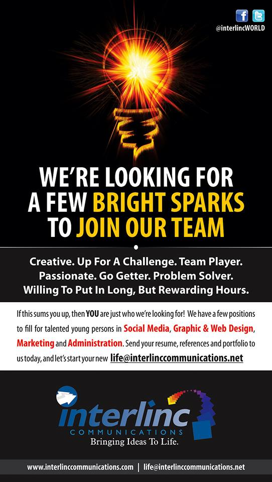 We're looking for a few bright sparks to join our team. Apply now to Interlinc Communications