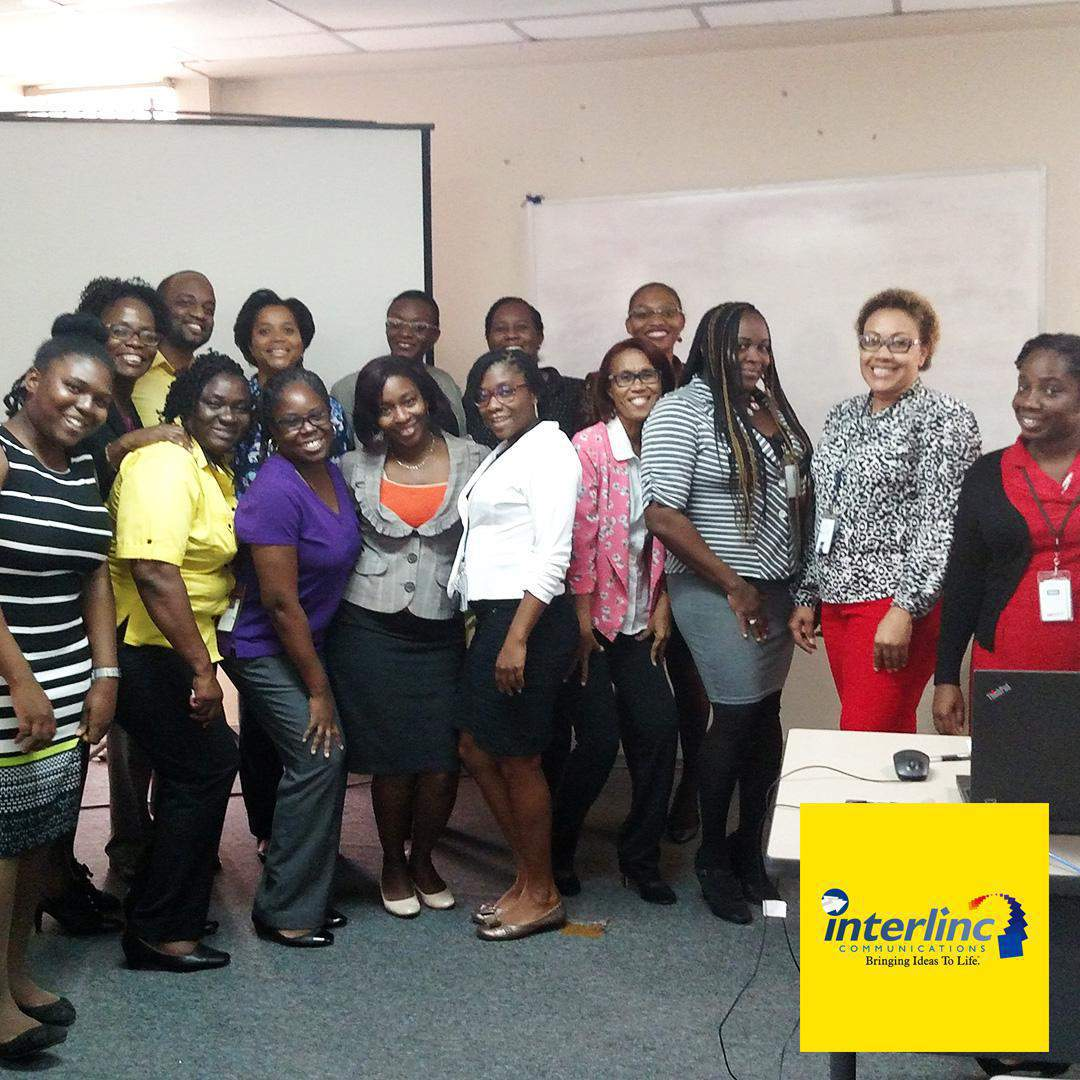 Team Interlinc Communications at social media marketing workshop conducted by the Agency for members of the Tax Administration of Jamaica