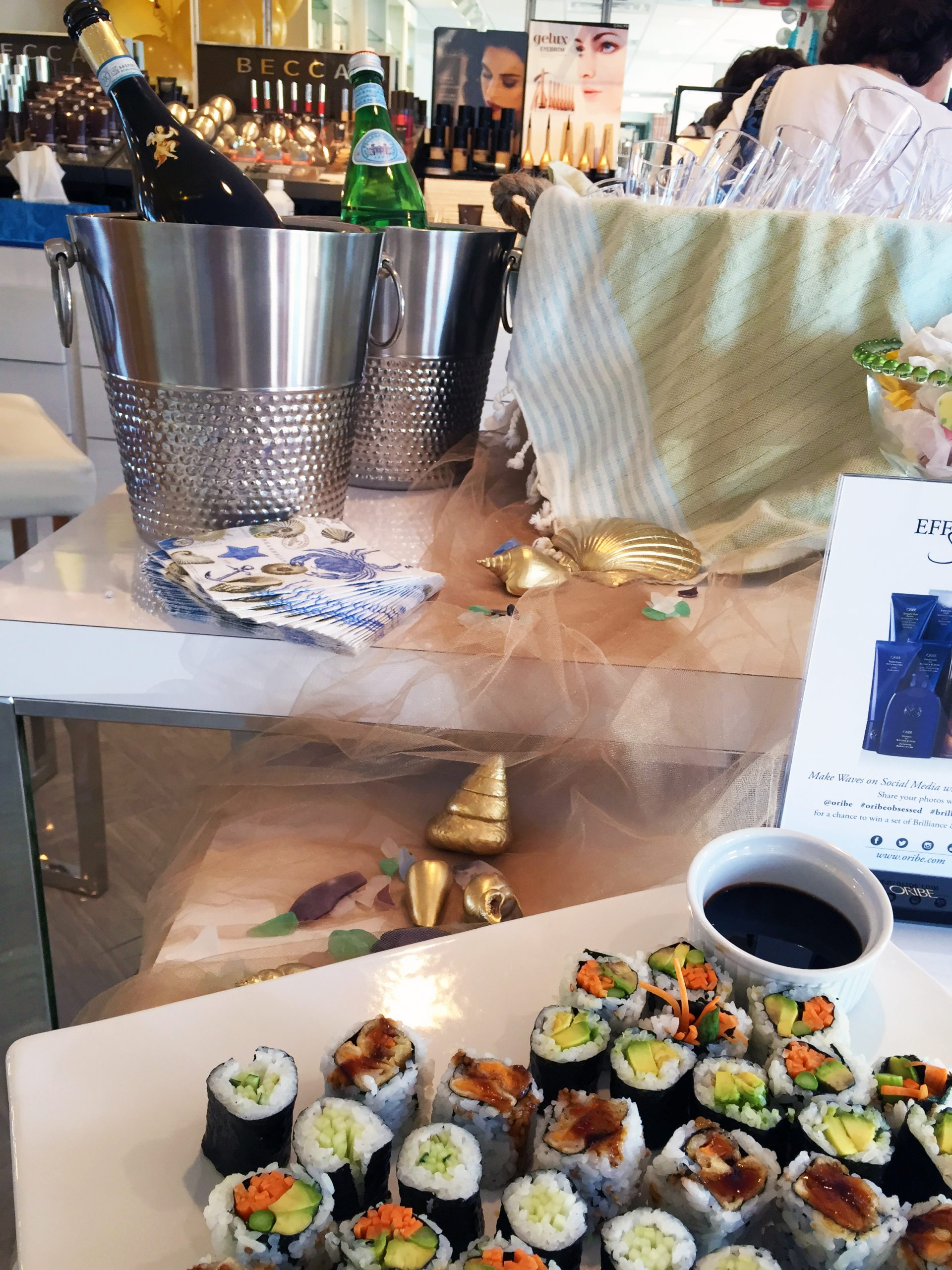 refreshments at INTERLOCKS Effortless Summer hair and makeup event
