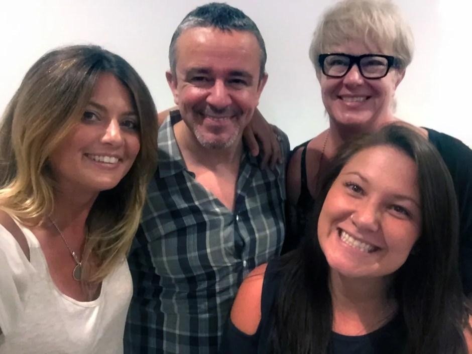 Celebrity Stylist Nick Arrojo with INTERLOCKS stylists