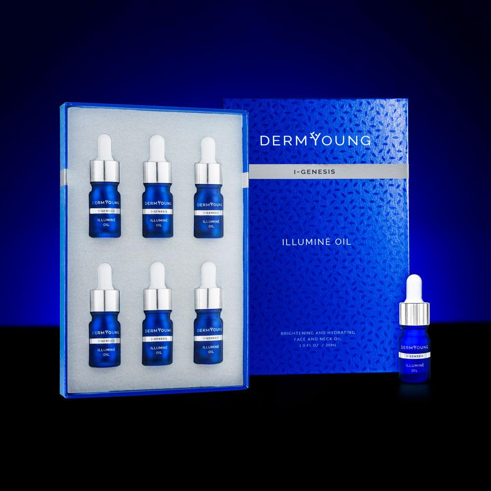 DermYoung I-GENESIS Illuminè Face and Neck Oil sold at INTERLOCKS MedSpa + Wellness