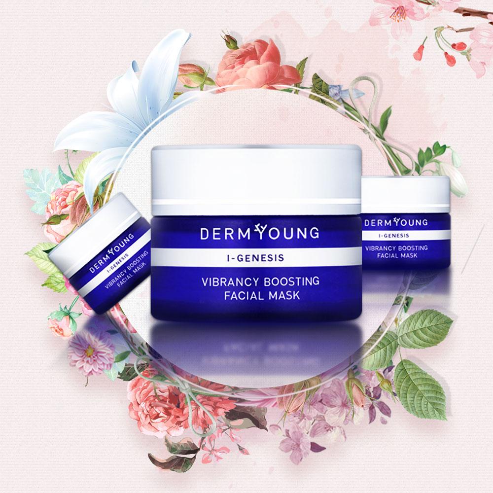 DermYoung I-GENESIS Vibrancy Boosting Facial Mask sold at INTERLOCKS MedSpa + Wellness