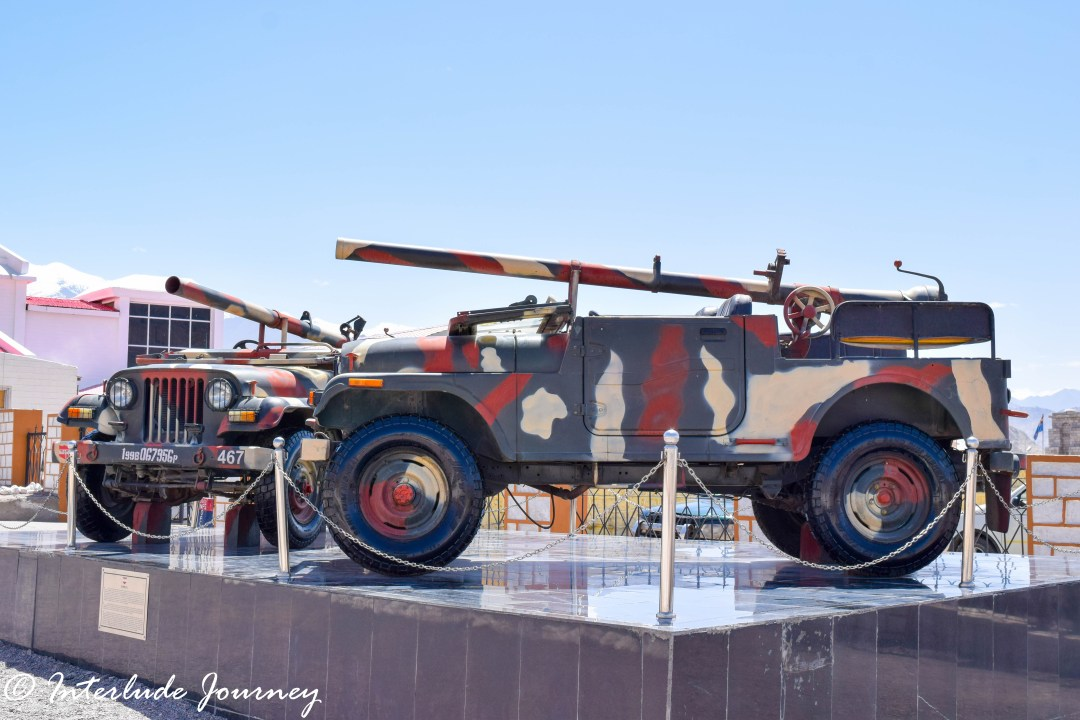 War armaments on display outside Hall of fame Museum