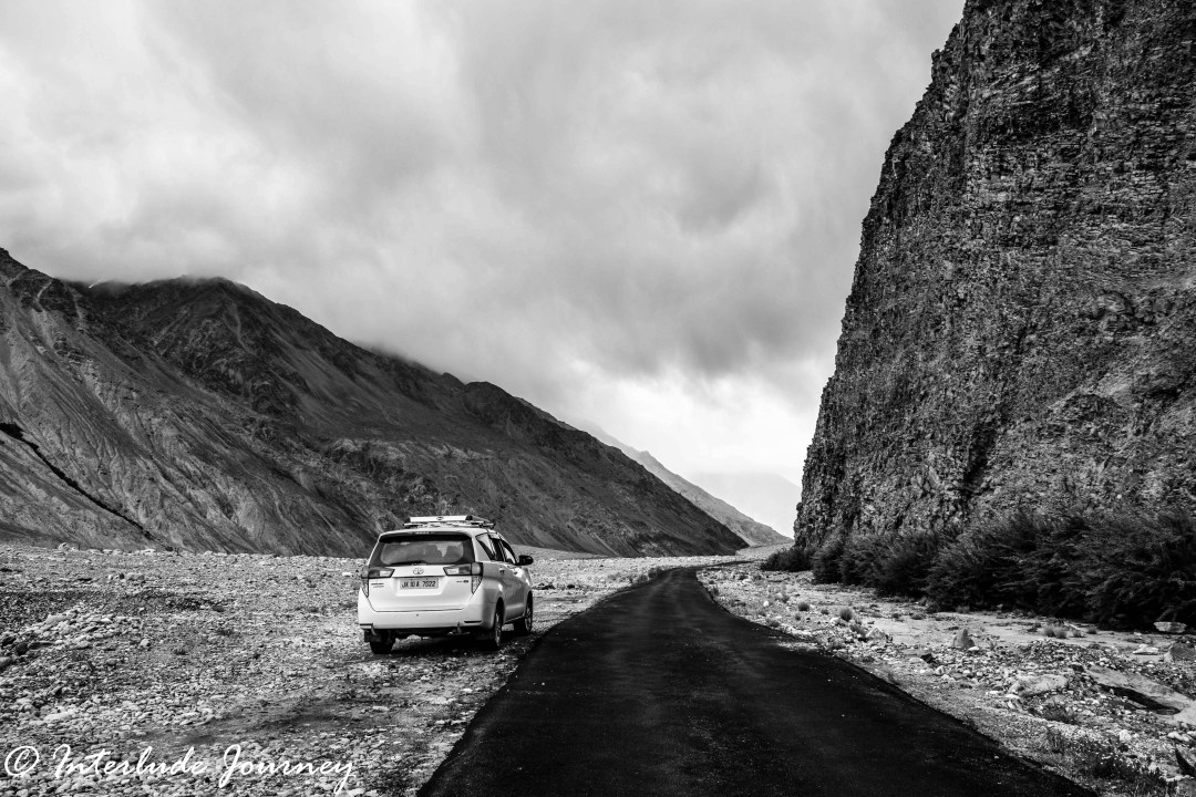 Grayscale photographs of Ladakh