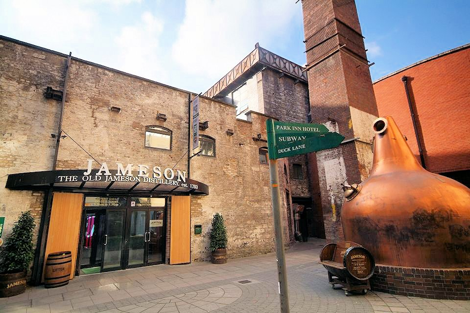 Dublin-Old Jameson Distillery entrance and courtyard - Interlude Tours