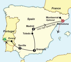 Spain & Portugal Guided Vacation