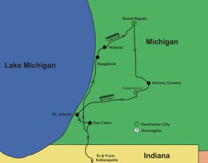 Grand City Beach Towns by Bus from Indianapolis