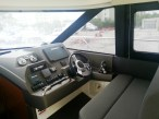 View of the double-seating at the helm of the 2014 Prestige 450S.