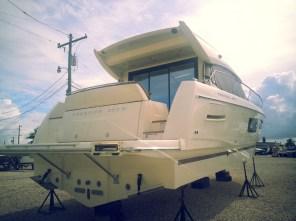 2014 Prestige 450S arrives at InterMarine Fort Lauderdale.