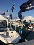 InterMarine Chaparral and Four Winns display at the 2014 Palm Beach boat show.