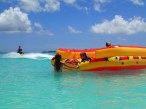 Boaters enjoying the beaches at Treasure Cay, Abacos, Bahamas.