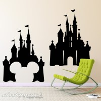 Choice of Disney Castle Vinyl Wall Art Silhouette Decal ...