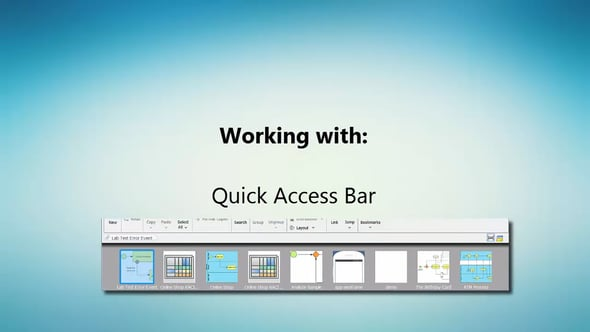Schakelen tussen diagrammen met de Quick Access Bar in Visual Paradigm