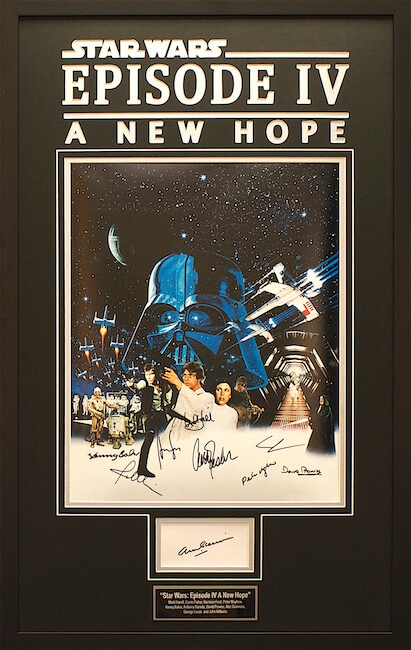 star wars episode iv a new hope autographed poster