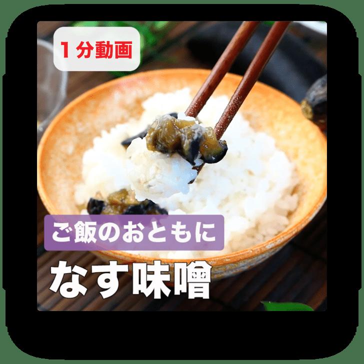 ご飯のおともに なす味噌