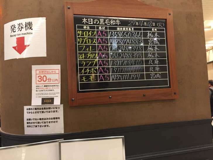 名古屋 ミート矢澤 本日の黒毛和牛