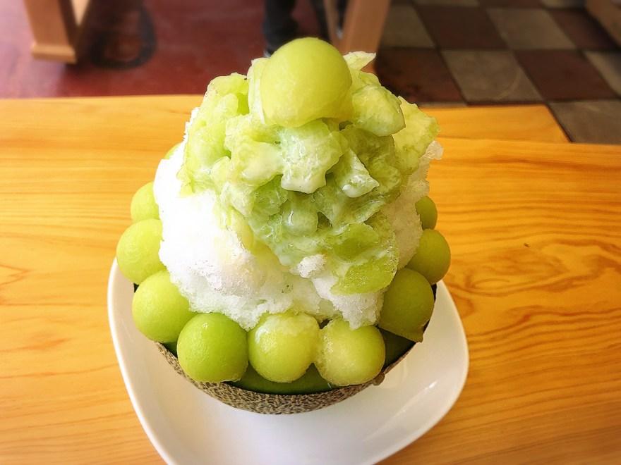 ダイワスーパーのかき氷(メロン)