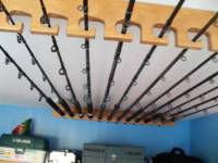 Fishing Rod Rack ceiling or horizontal mount