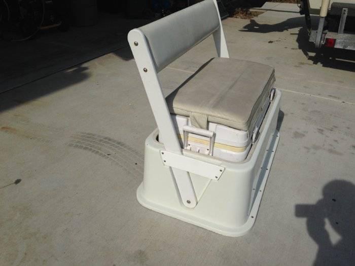 90qt Cooler Seat with Backrest  Bloodydecks