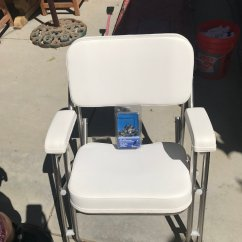 West Marine Chairs Outdoor Folding Chair With Footrest 2 Brand New And Gimbal Brackets Bloodydecks Never Used In Package 500 Bucks