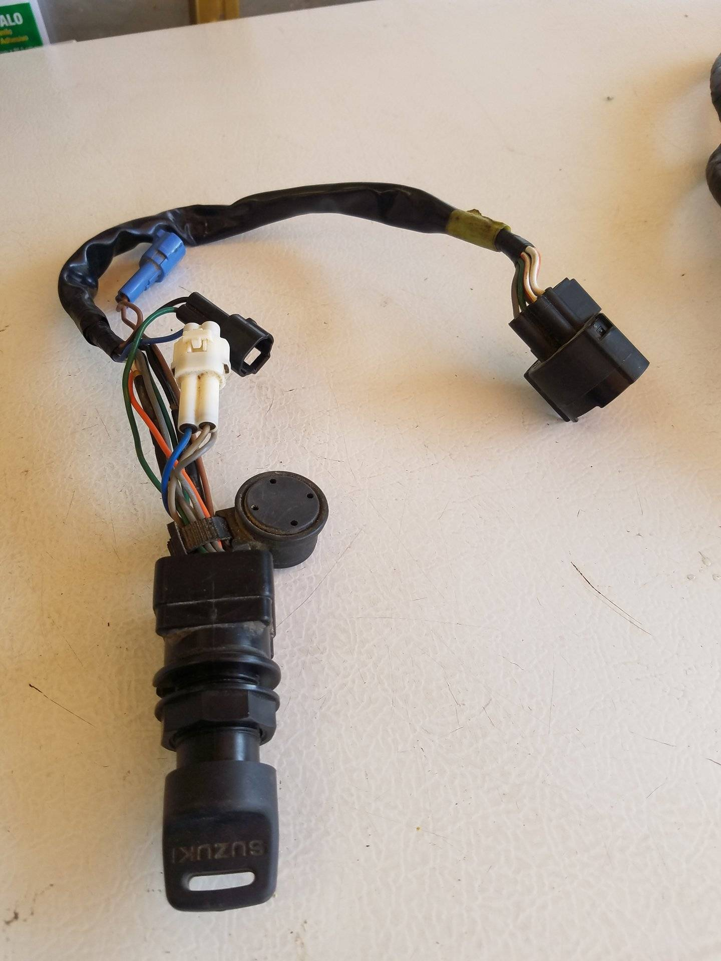 hight resolution of suzuki outboard ignition switch w key wiring harness 50