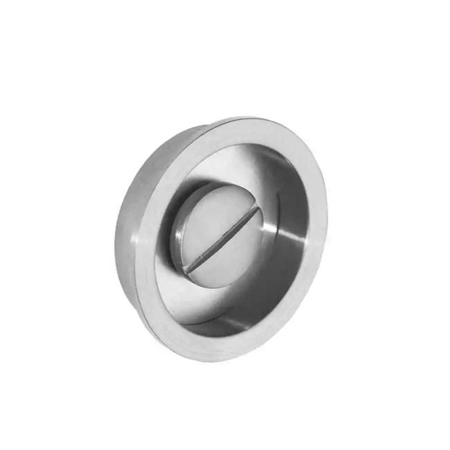 Ironmongery Aries Satin Chrome Pocket Door Privacy Handle 2