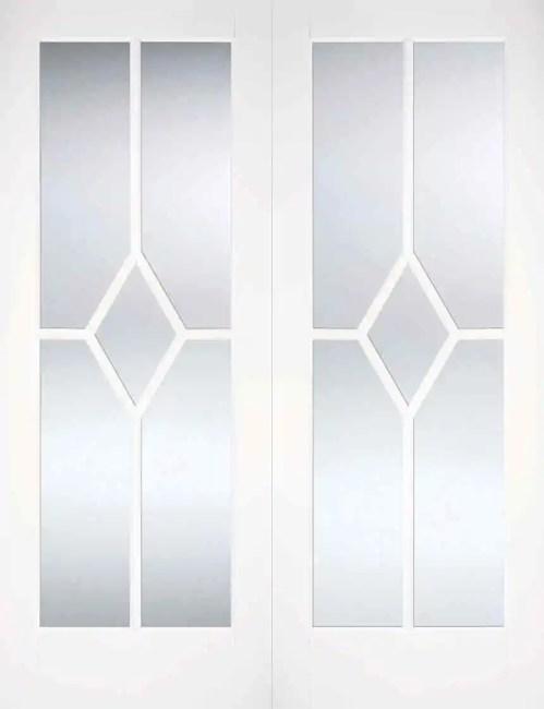 White Reims Glazed Pair