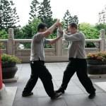 Master Luo and Ollie Smith training Taiji -Si Ping Tui Shou