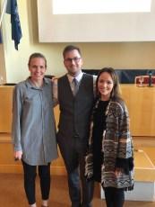From left to right: Dr. Gudbjorg Jonsdottir (former Iowa IntMed resident, current Hem/Onc fellow), Dr. Thorarinn A. Bjarnason, Ina V. Petursdottir (Bjarnason's wife)
